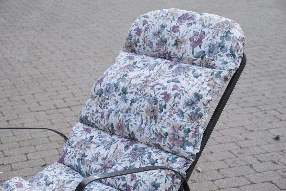 Black Steel Chaise Lounge Chair W/ Cushions - 4