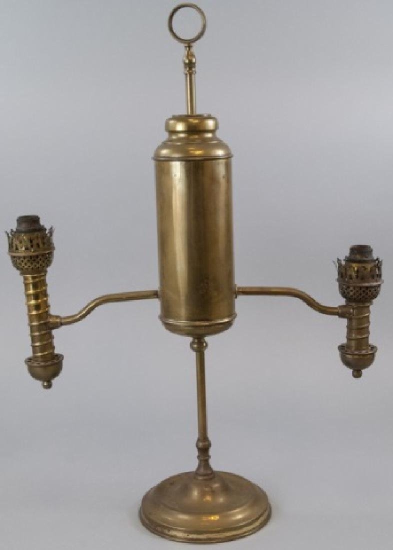 Antique Brass Student Kerosene Lamp