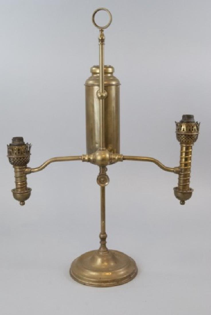 Antique Brass Student Kerosene Lamp - 6