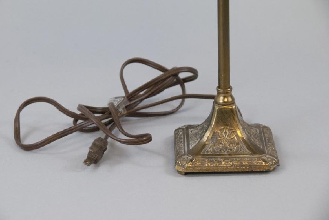 Small Vintage Bronze Lamp W/ Ornate Design - 3