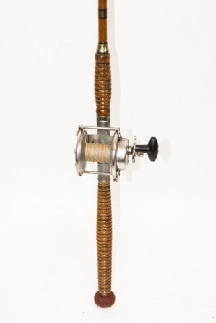 Vintage Bamboo & Stainless Steel  Fly Fishing Pole
