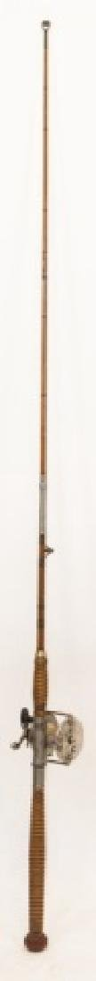 Vintage Bamboo & Stainless Steel  Fly Fishing Pole - 3