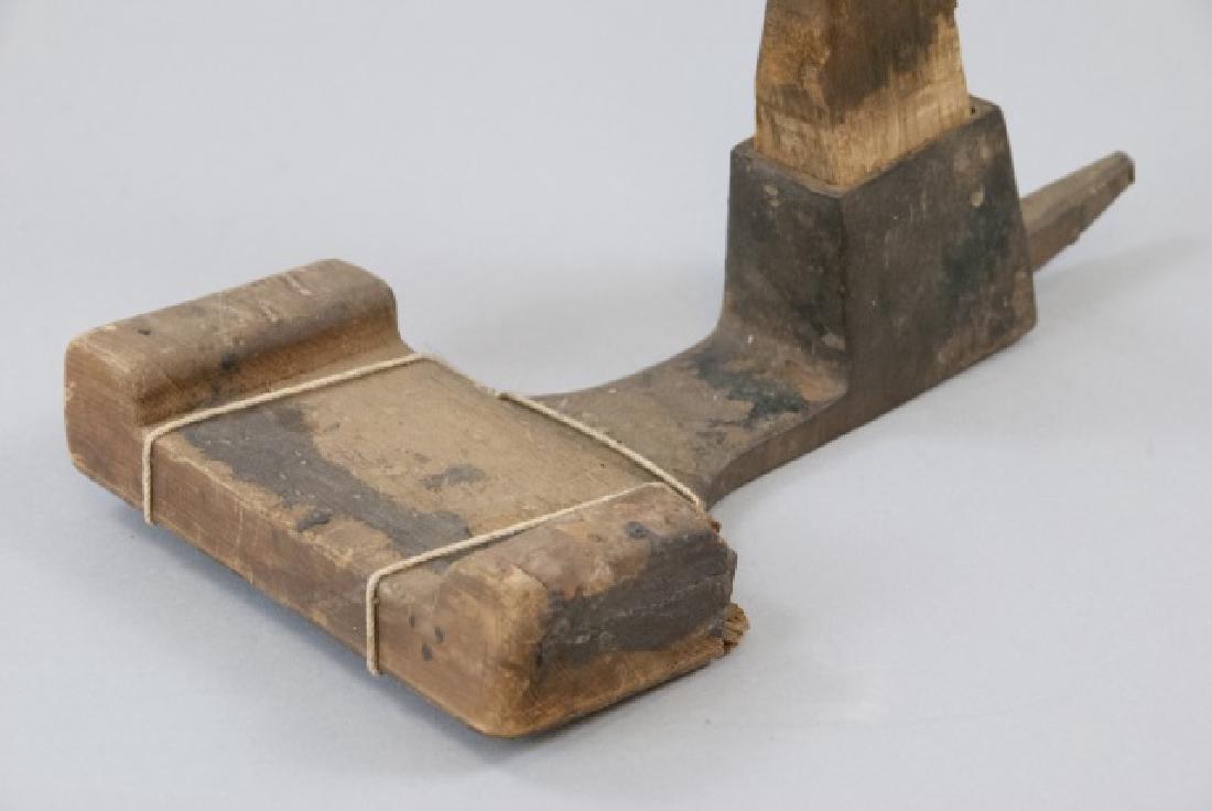 Vintage Wood Hazel Adz Tool - 2