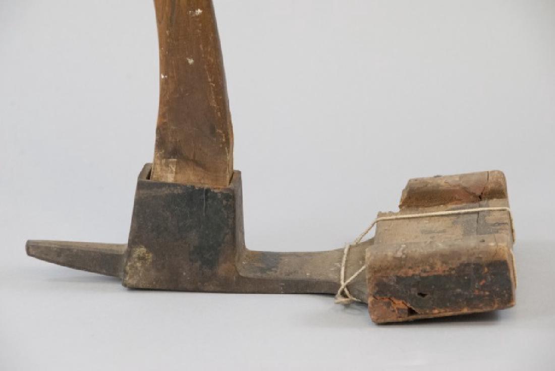 Vintage Wood Hazel Adz Tool - 5