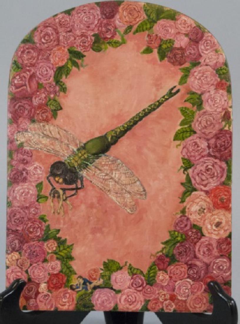 Irene Hardwicke Olivieri Acrylic On Wood Painting