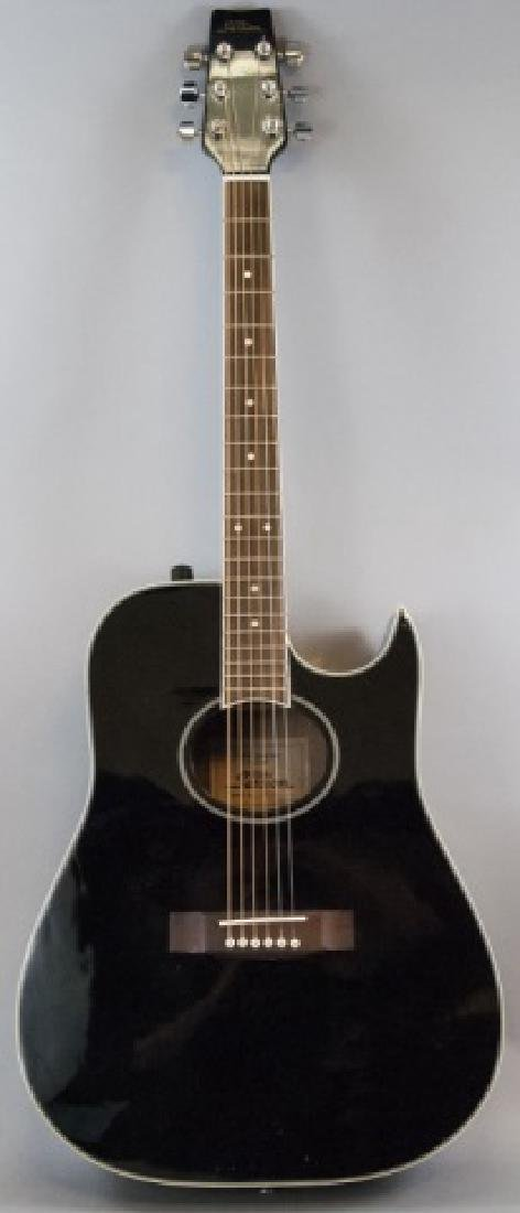 Black Pro Session Hand Crafted Acoustic Guitar