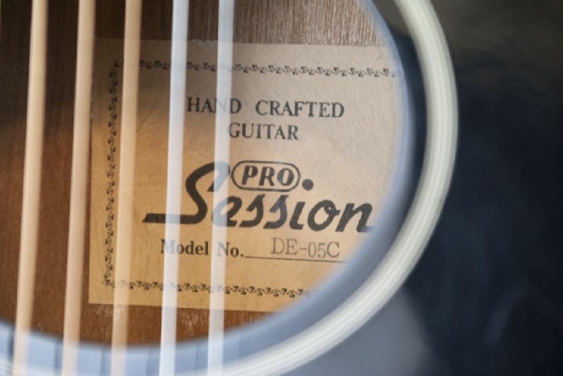 Black Pro Session Hand Crafted Acoustic Guitar - 5