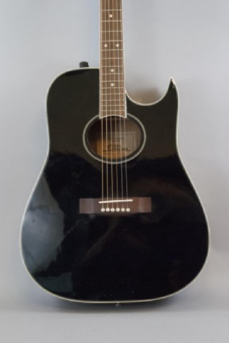 Black Pro Session Hand Crafted Acoustic Guitar - 6