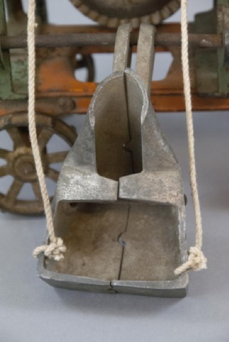 Antique Cast Iron Cement Mixer Toy Jaeger Truck - 2