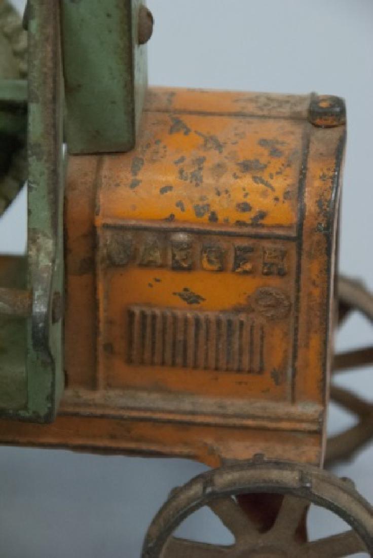 Antique Cast Iron Cement Mixer Toy Jaeger Truck - 3