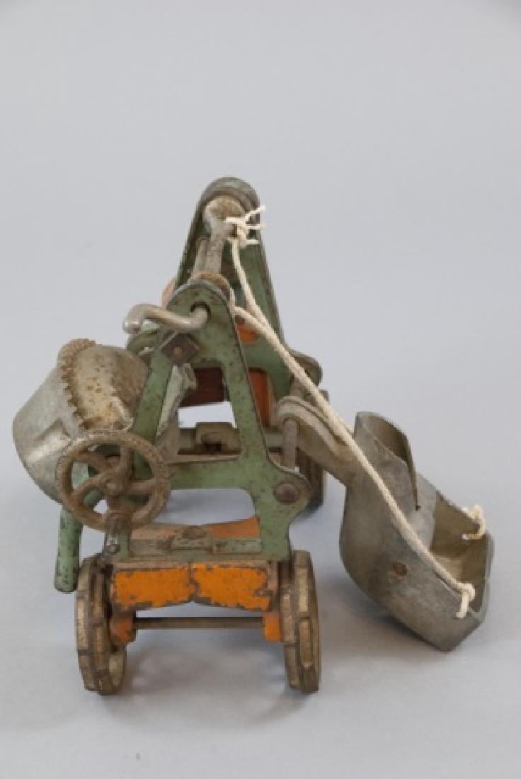 Antique Cast Iron Cement Mixer Toy Jaeger Truck - 5