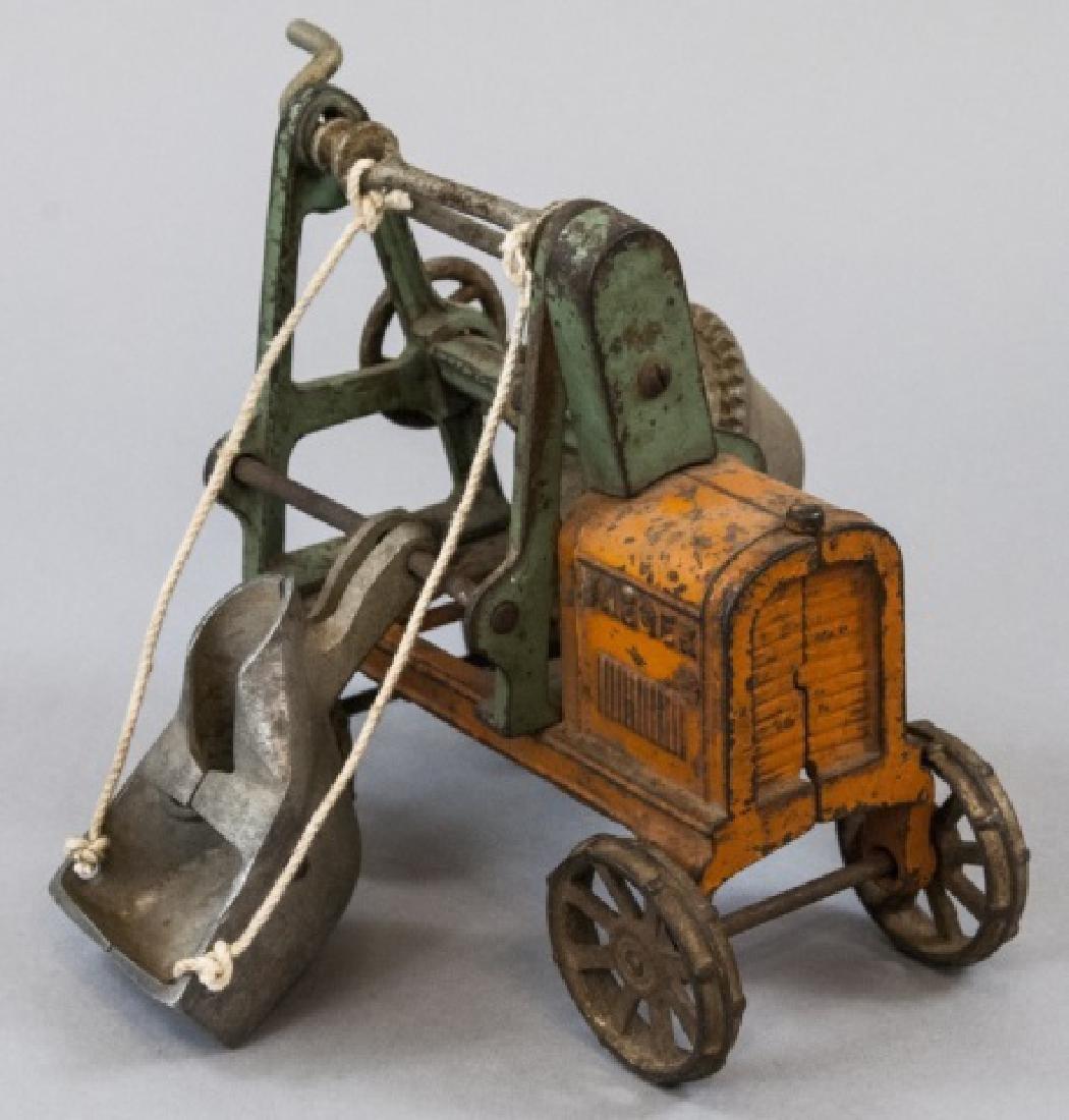 Antique Cast Iron Cement Mixer Toy Jaeger Truck - 6