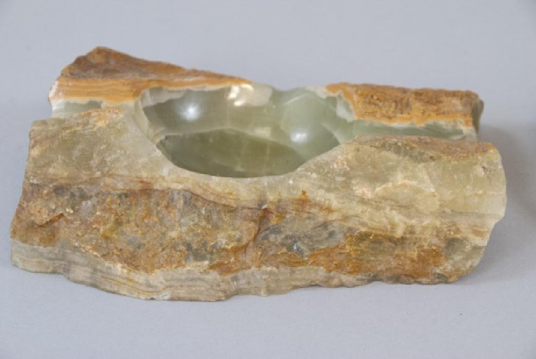 Pair Of Vintage Green Marble Ashtrays - 5