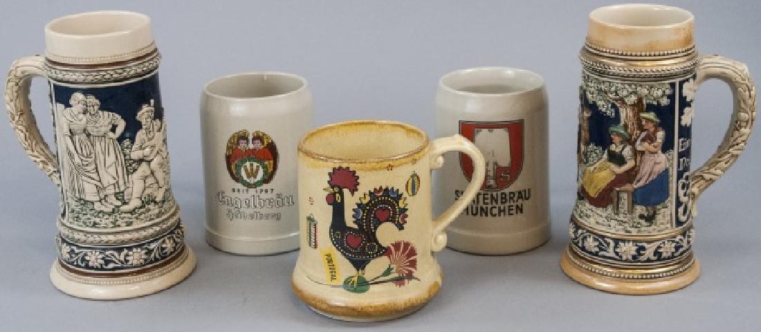 Lot Of Ceramic German Beer Mugs & Steins