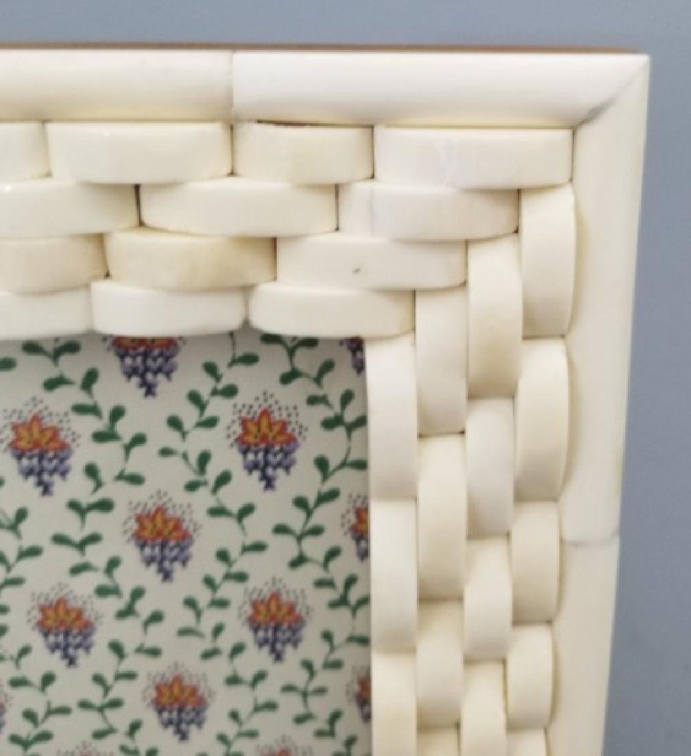 Two Contemporary Carved Inlaid Bone Picture Frames - 6