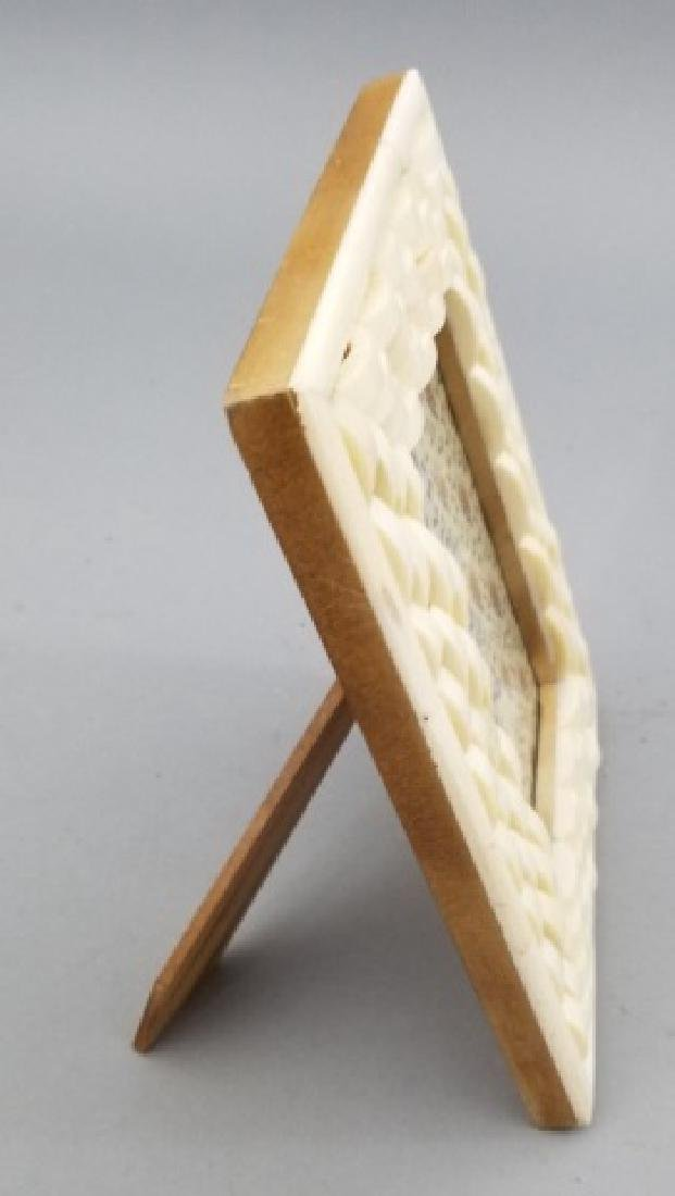 Two Contemporary Carved Inlaid Bone Picture Frames - 7