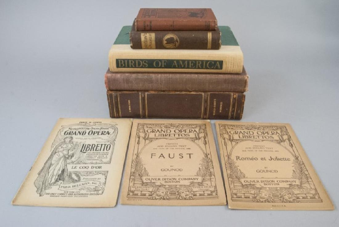 Lot Of Five Antique Books & Two Operas