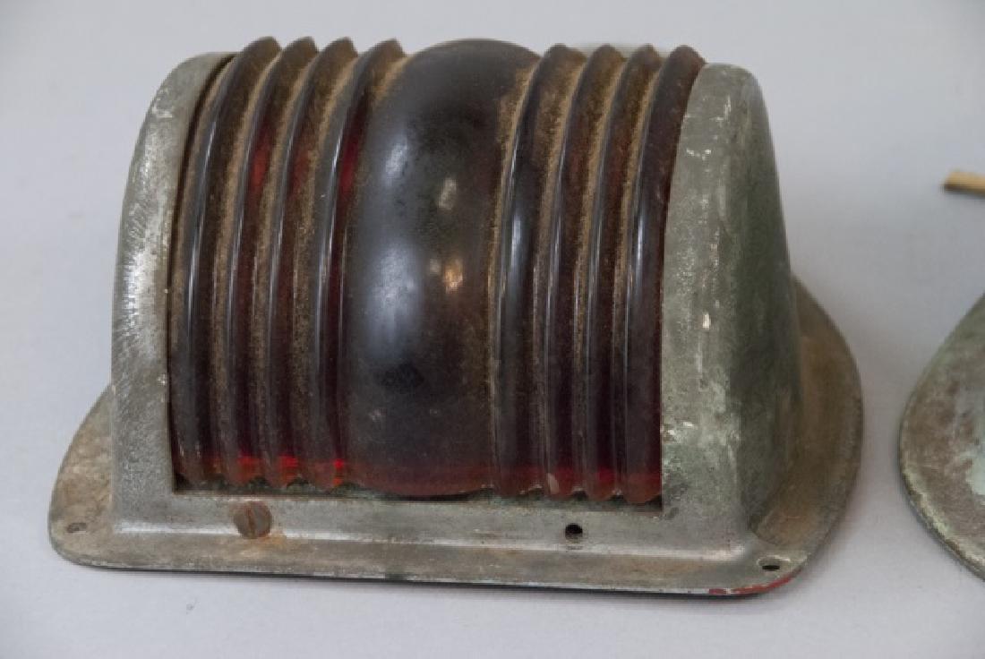 Three Vintage Industrial Perko Marine Boat Lamps - 5