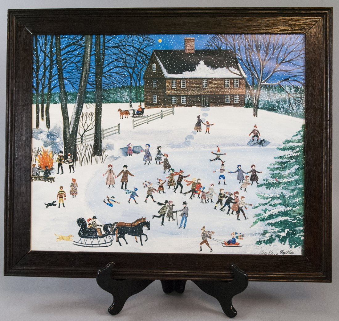 Regi Klein Framed Print Of Winter Scene