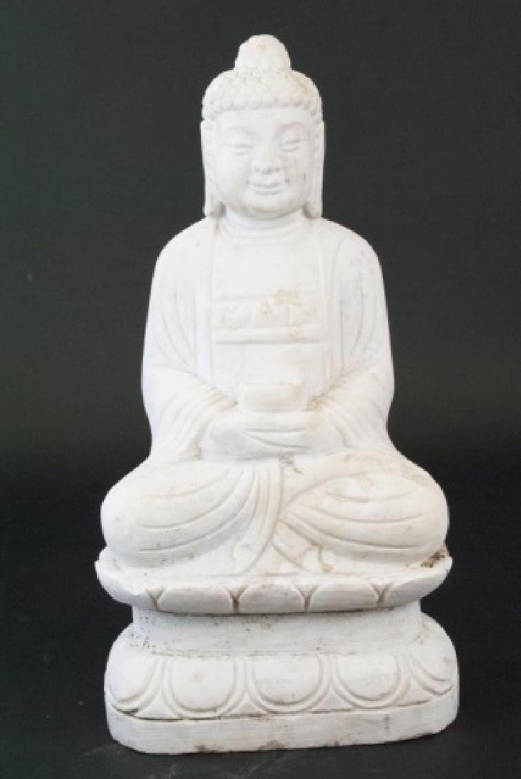 Full Marble Sitting Buddha Statue
