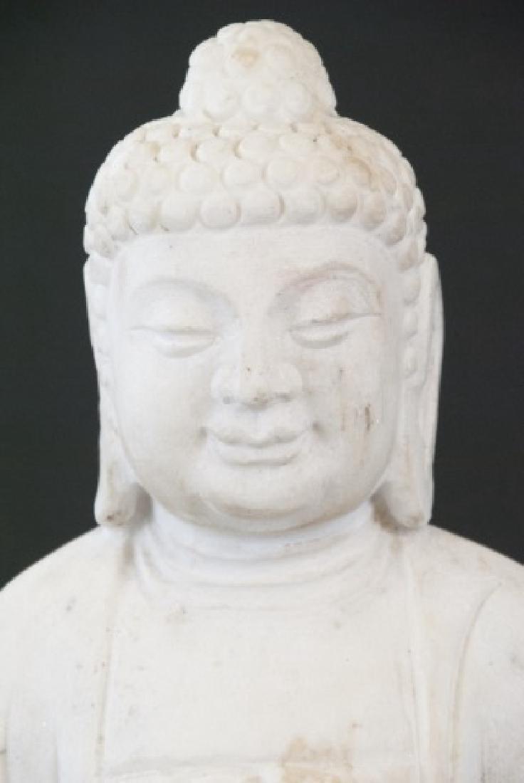 Full Marble Sitting Buddha Statue - 2