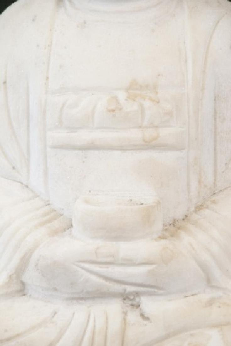 Full Marble Sitting Buddha Statue - 3