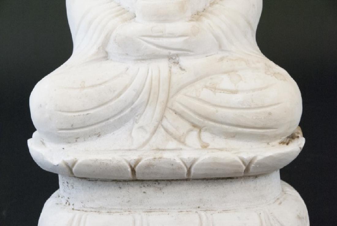 Full Marble Sitting Buddha Statue - 4