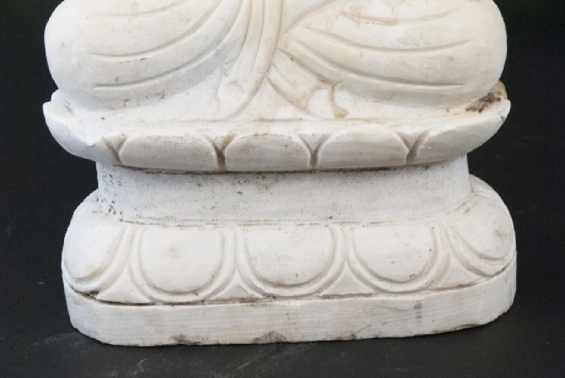 Full Marble Sitting Buddha Statue - 5