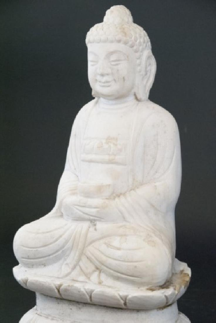 Full Marble Sitting Buddha Statue - 6