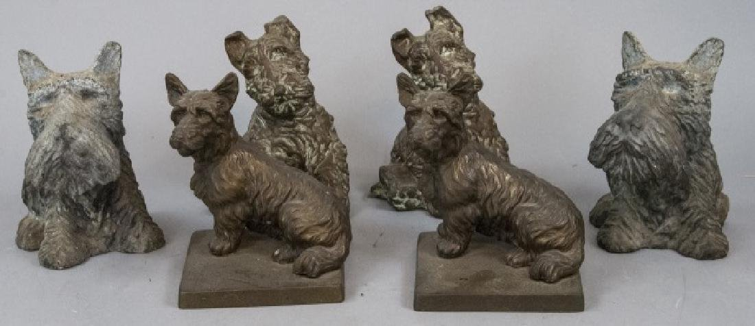 Assorted Lot Of Scottish Terrier Statue Sets
