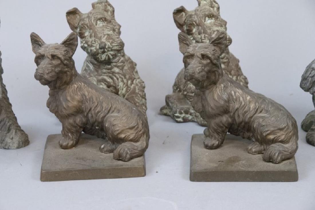 Assorted Lot Of Scottish Terrier Statue Sets - 2