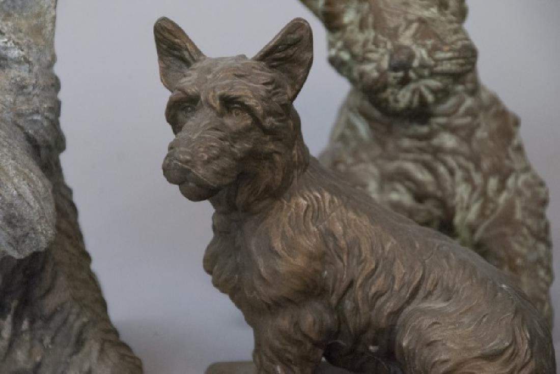Assorted Lot Of Scottish Terrier Statue Sets - 4