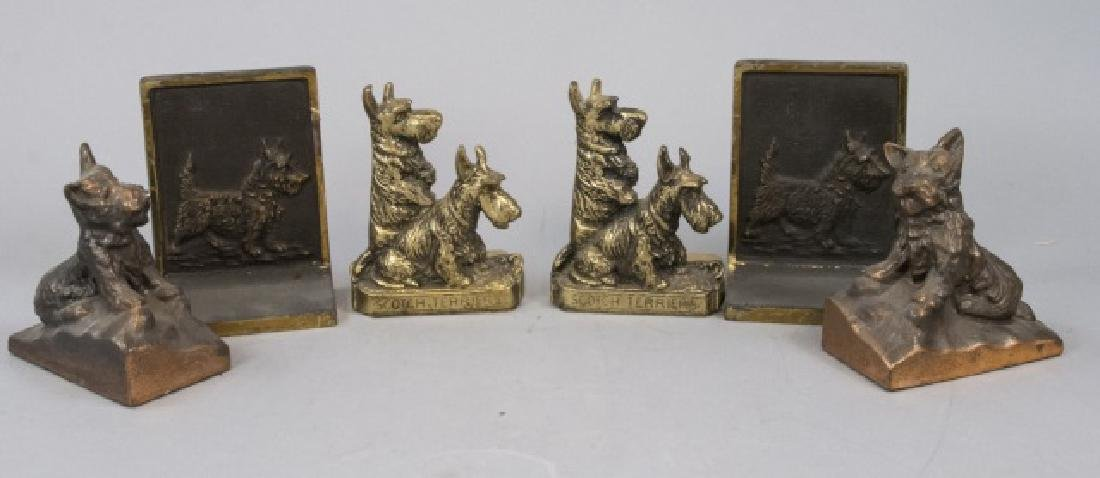 Assorted Lot Of Vintage Scottish Terrier Bookends