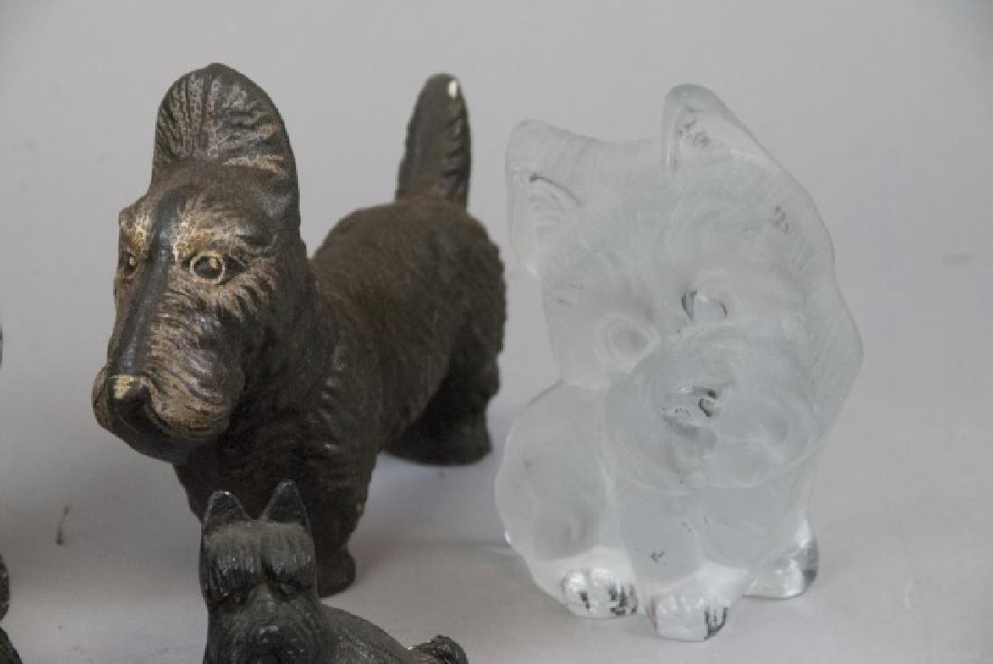 Lot Of Plaster, Ceramic & Glass Scottish Terriers - 6