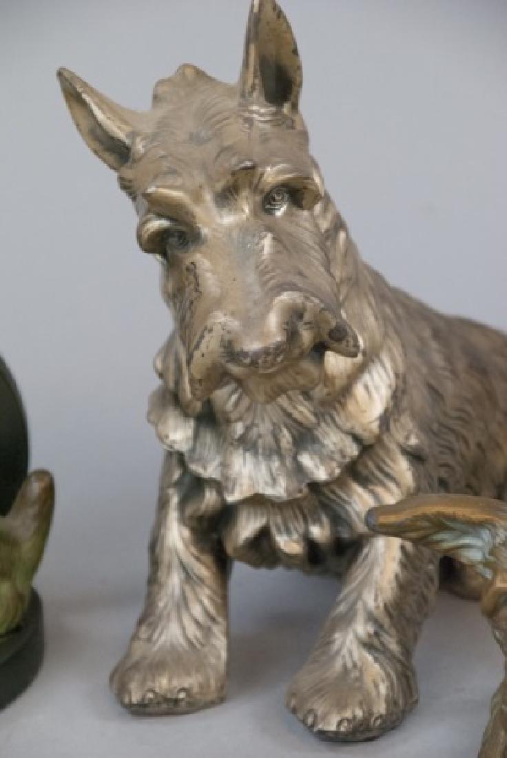 Assorted Lot Of Bronze Scottish Terrier Statues - 3