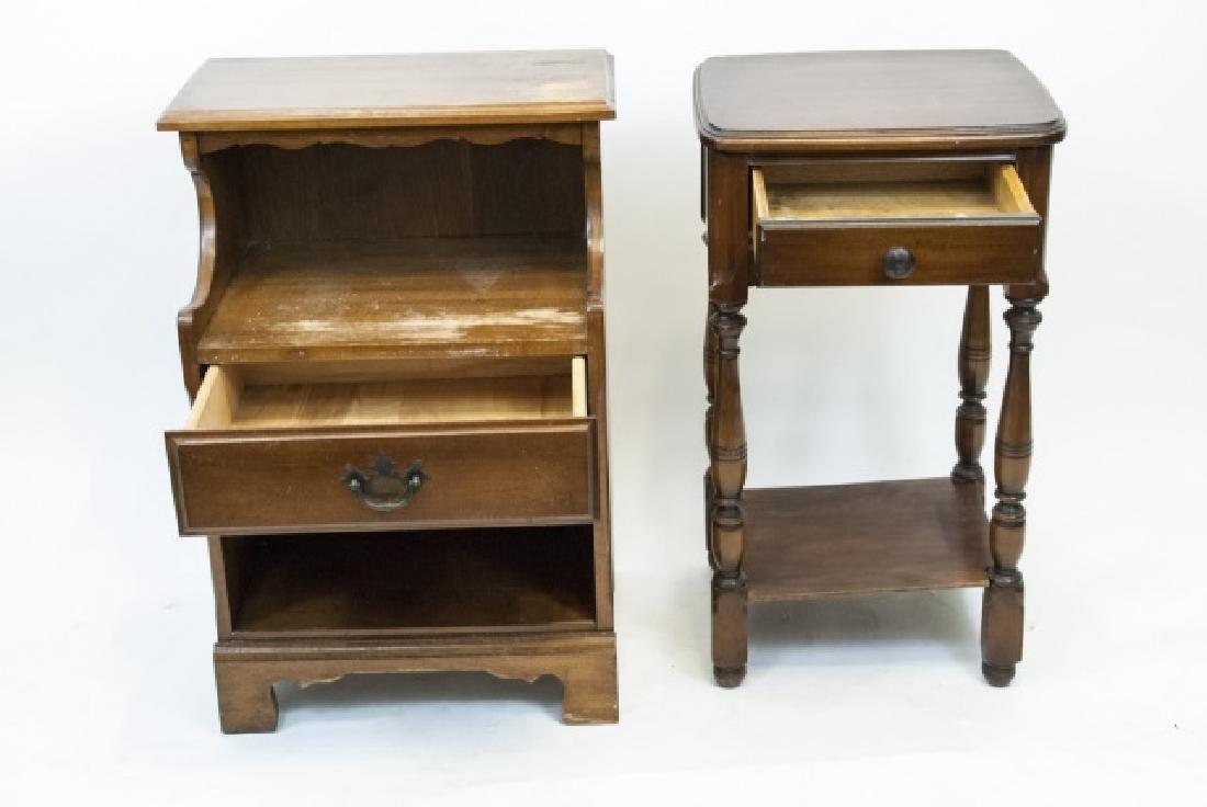 Two Vintage Wooden Nightstands