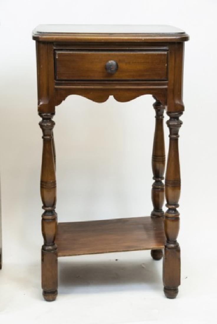 Two Vintage Wooden Nightstands - 2
