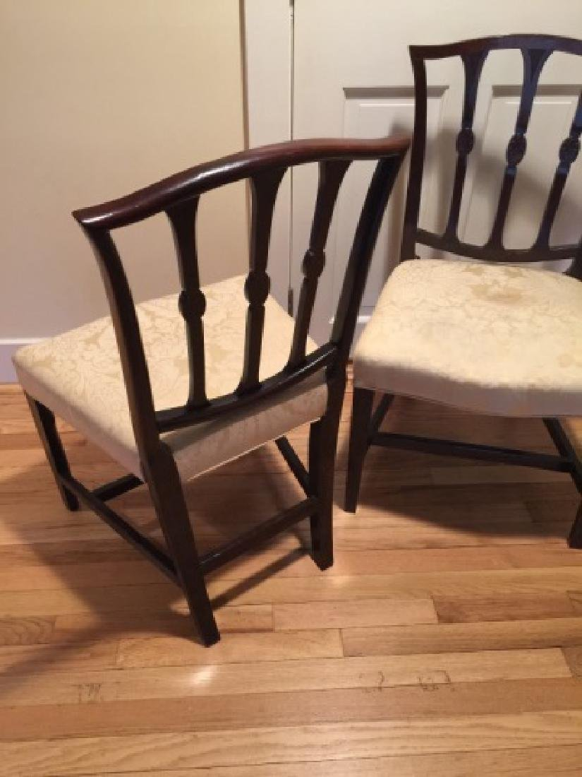 Pair Antique English 19th C Carved Side Chairs - 2