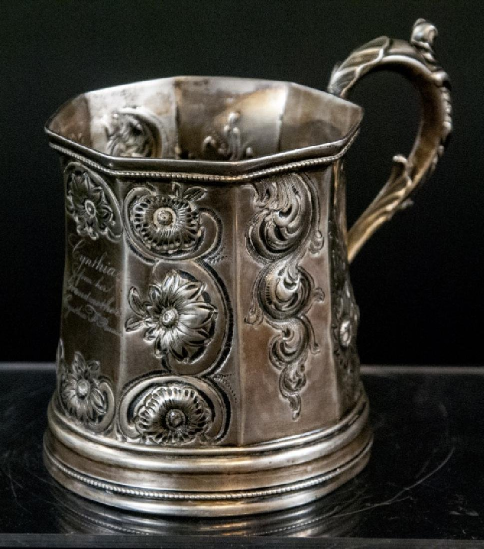 Antique 19th C Coin Silver Cup by J L Moore