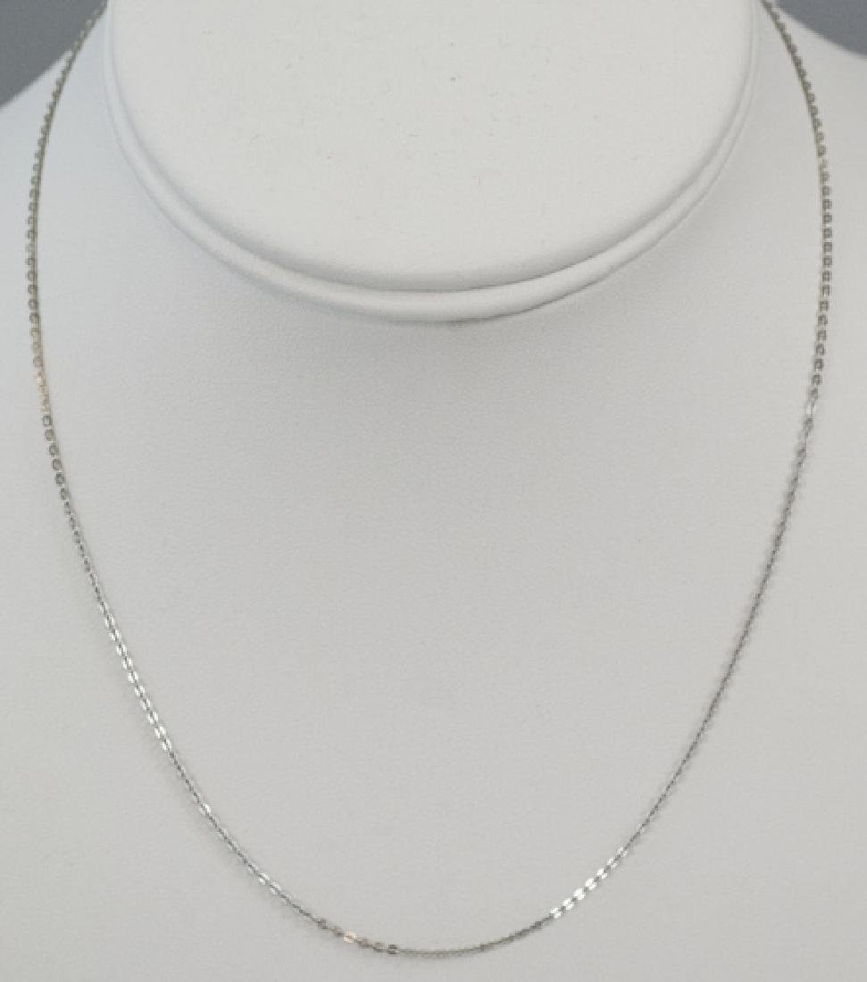 Estate 18kt White Gold 16 Inch Necklace Chain