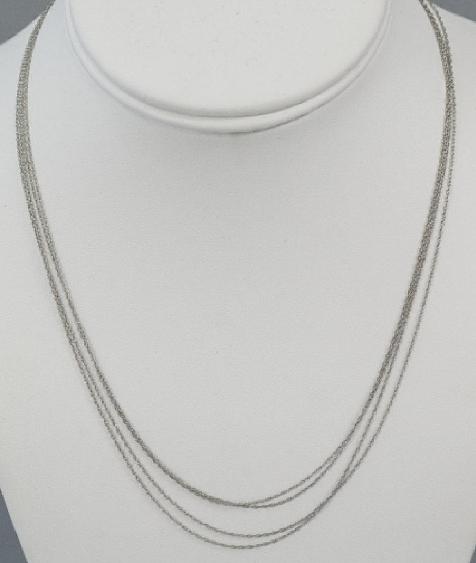Estate 14kt White Gold 18 Inch Necklace Chains