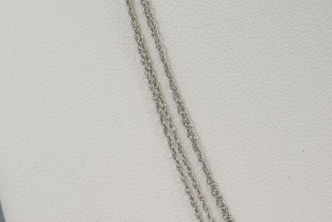 Estate 14kt White Gold 18 Inch Necklace Chains - 3