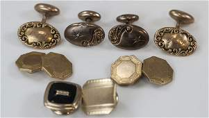 Gold Filled  Gold Tone Cuff Links  Buttons