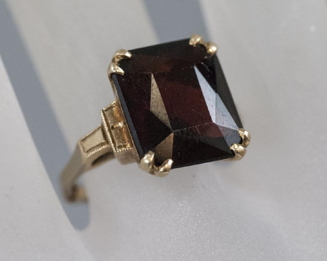 Estate Art Deco 14kt Yellow Gold Cocktail Ring