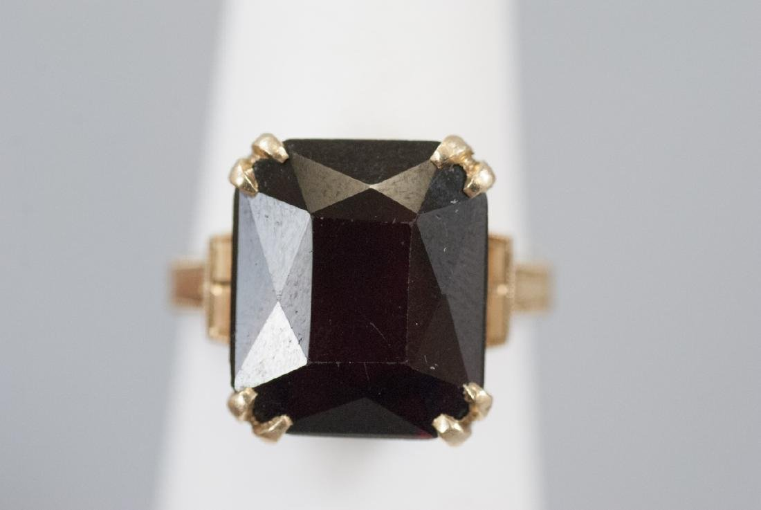 Estate Art Deco 14kt Yellow Gold Cocktail Ring - 5