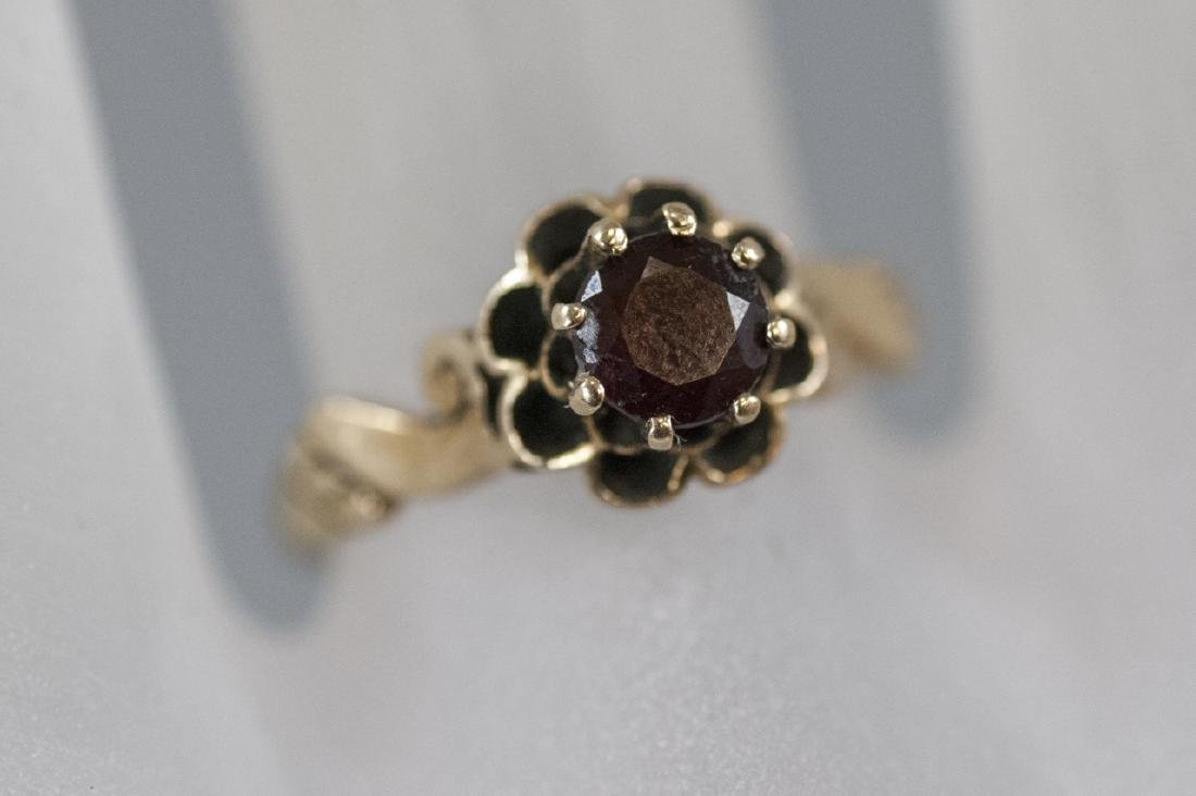 Antique Estate 14kt Yellow Gold Solitaire Ring