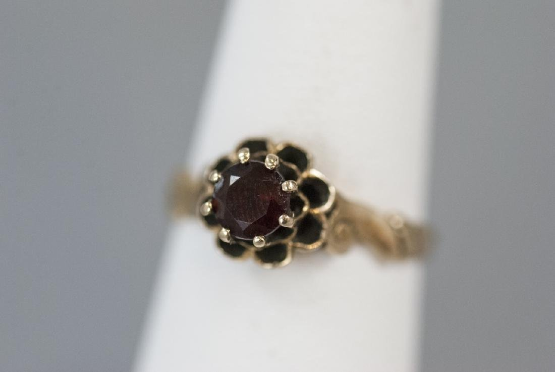 Antique Estate 14kt Yellow Gold Solitaire Ring - 2