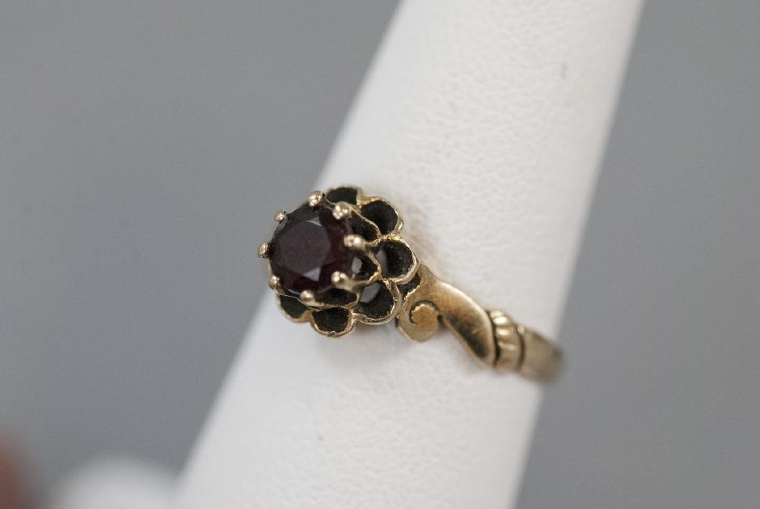 Antique Estate 14kt Yellow Gold Solitaire Ring - 4