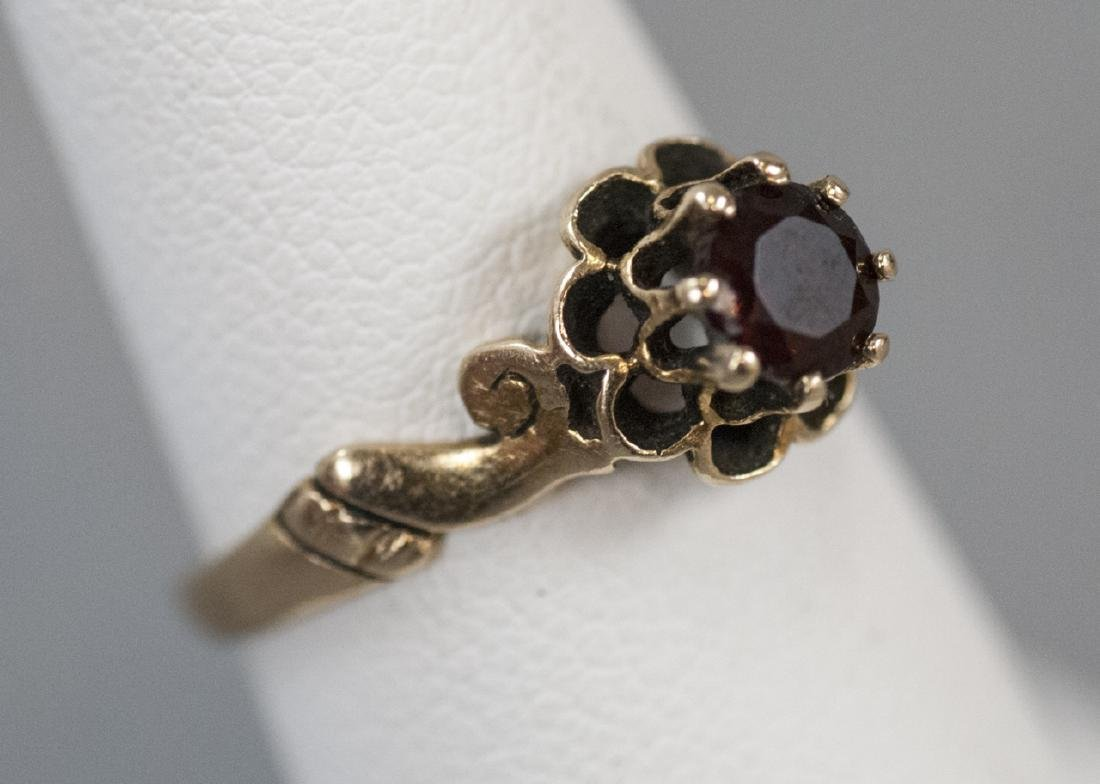 Antique Estate 14kt Yellow Gold Solitaire Ring - 5