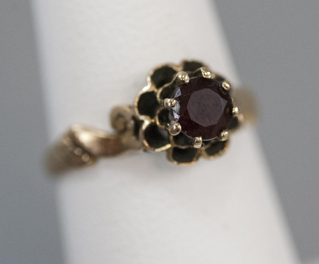Antique Estate 14kt Yellow Gold Solitaire Ring - 6